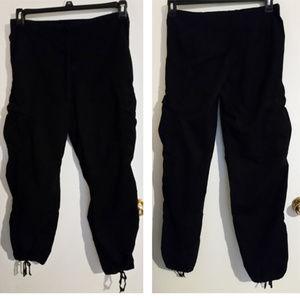 Johnny Was black cargo pants drawstring S